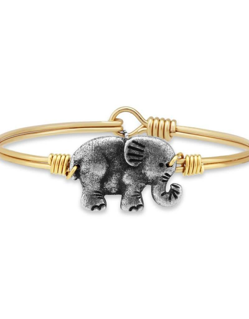 LUCA AND DANNI STC430S SMALL ELEPHANT ON SILVER WIRE WRAPPED BRACELET