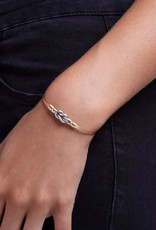 LUCA AND DANNI STC088S PINEAPPLE ON SILVER WIRE WRAPPED BRACELET
