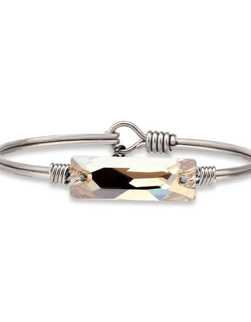 LUCA AND DANNI STC298S HUDSON COLLECTION -CHAMPAGNE SWAROVSKI ON SILVER WIRE WRAPPED BRACELET