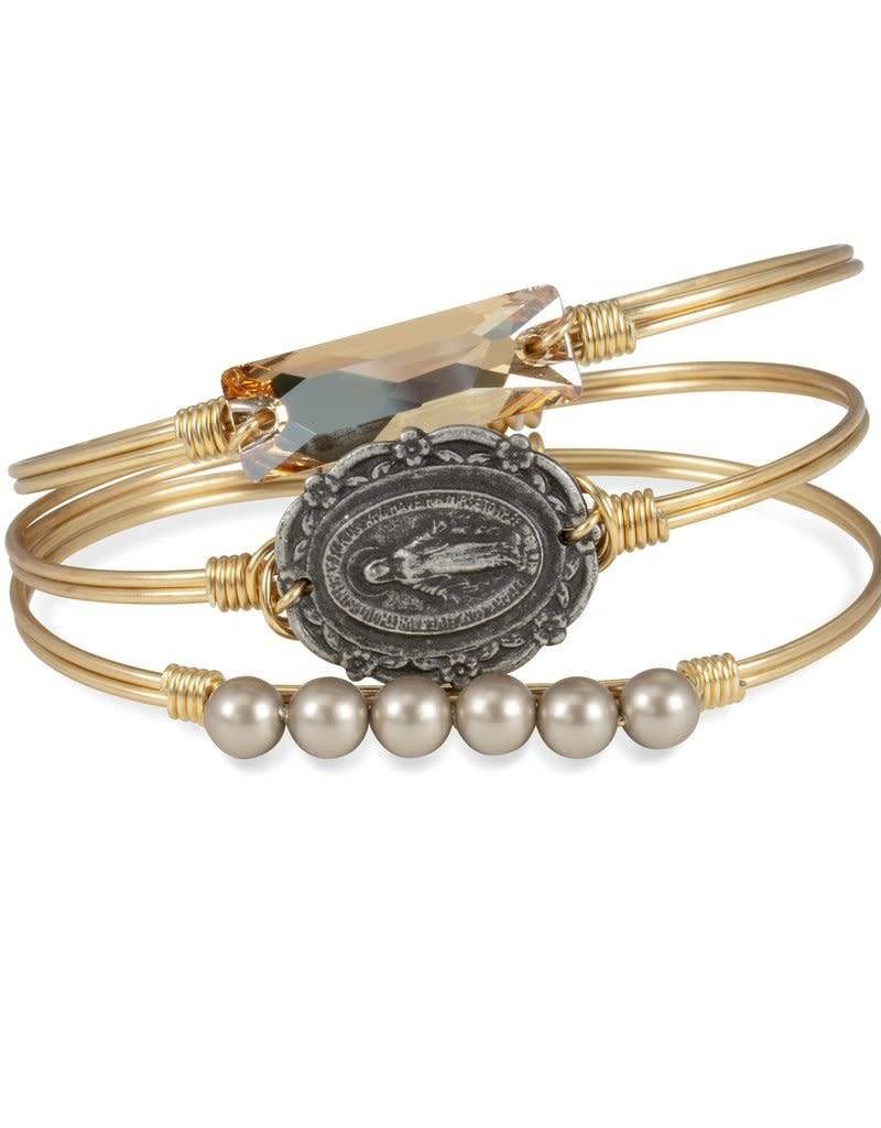 LUCA AND DANNI STC153S MOTHER MARY ON SILVER WIRE WRAPPED BRACELET