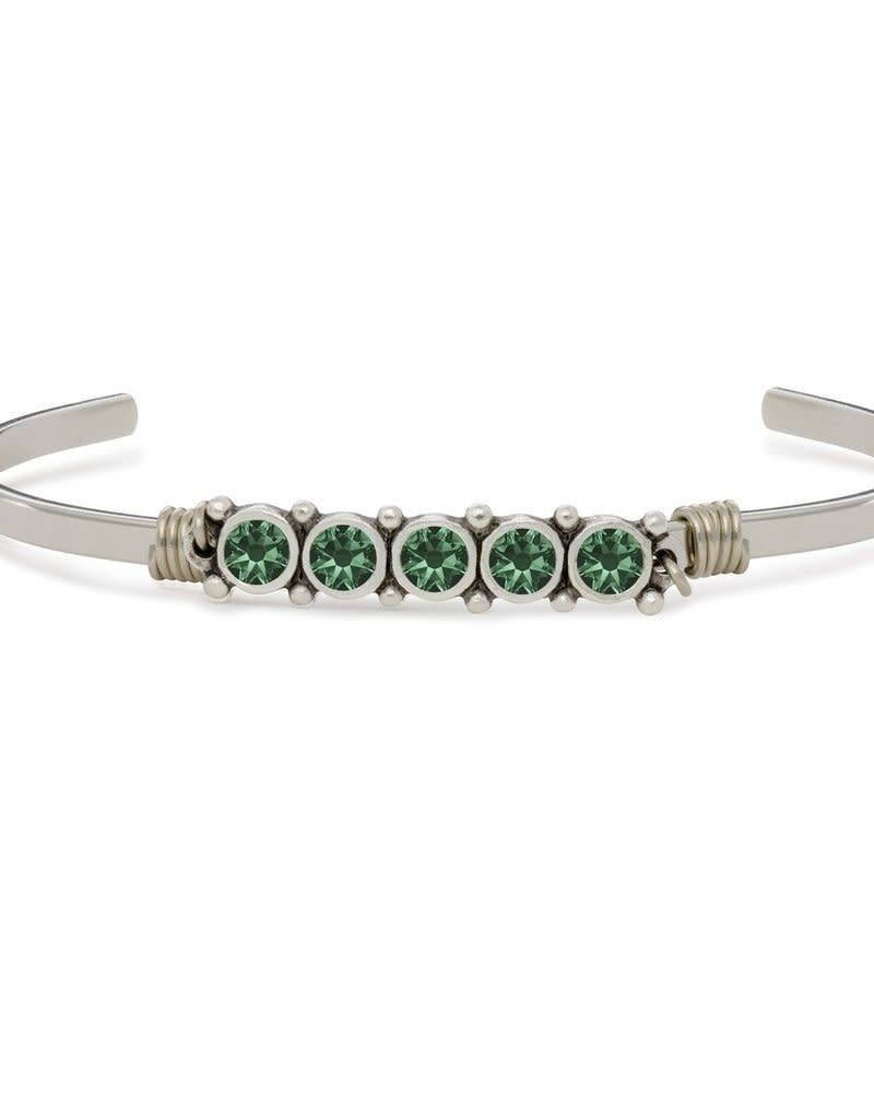 LUCA AND DANNI STC539S MAY BIRTHSTONE CUFF SILVER TONE