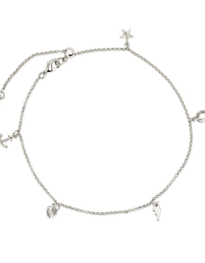 LUCA AND DANNI ANK100S CHARM ANKLET SILVER