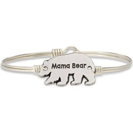 LUCA AND DANNI STC620S MAMA BEAR BRACELET SILVER TONE REGULAR