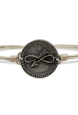 LUCA AND DANNI STC464S/SM EMBRACE THE JOURNEY ON SILVER WIRE WRAPPED BRACELET SZ SMALL