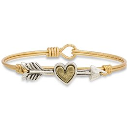 LUCA AND DANNI STC482 FOLLOW YOUR HEART BANGLE BRASS TONE LARGE
