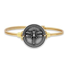 LUCA AND DANNI STC435 DRAGONFLY ON BRASS OX WIRE WRAPPED BRACELET