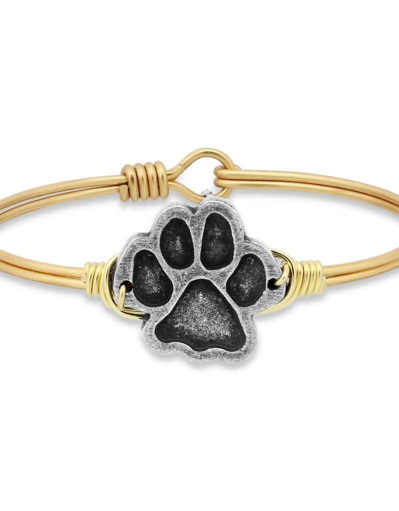 LUCA AND DANNI STC431 PAW PRINT ON BRASS OX WIRE WRAPPED BRACELET