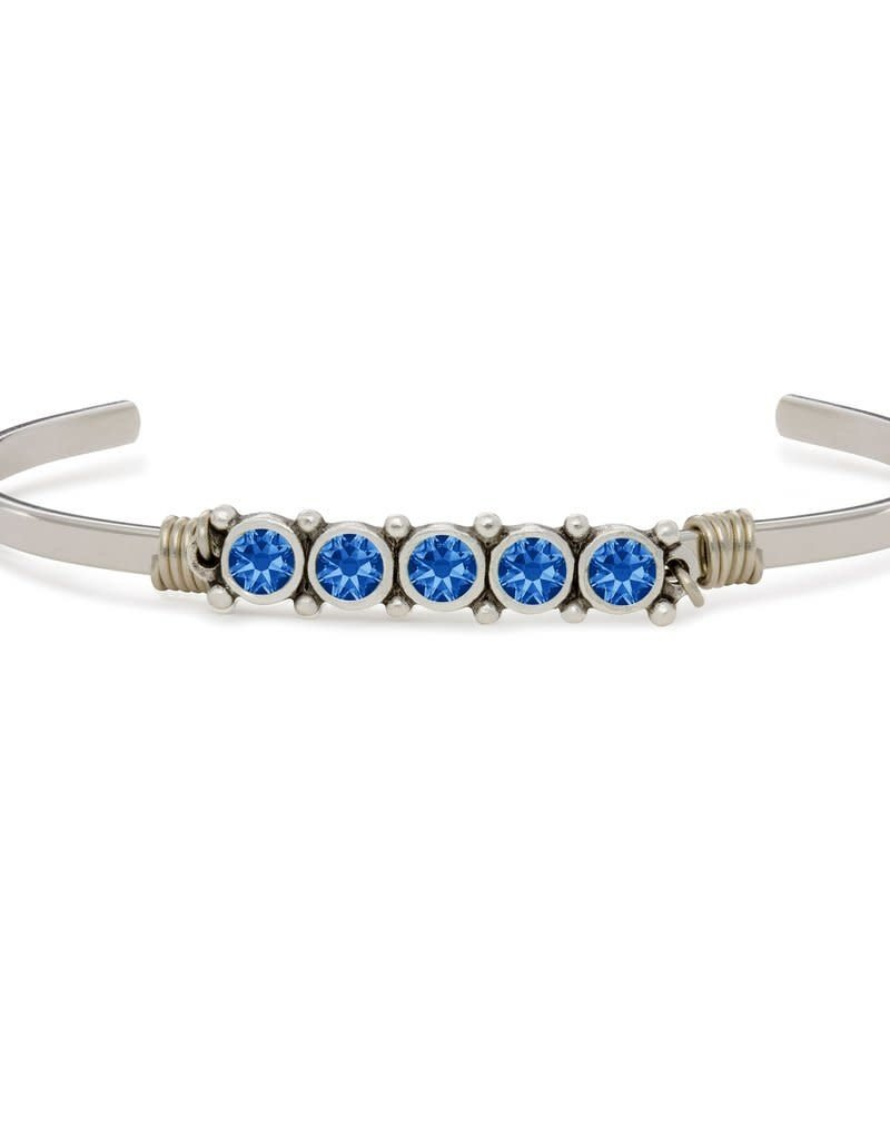 LUCA AND DANNI STC543S SEPTEMBER BIRTHSTONE CUFF SILVER  TONE