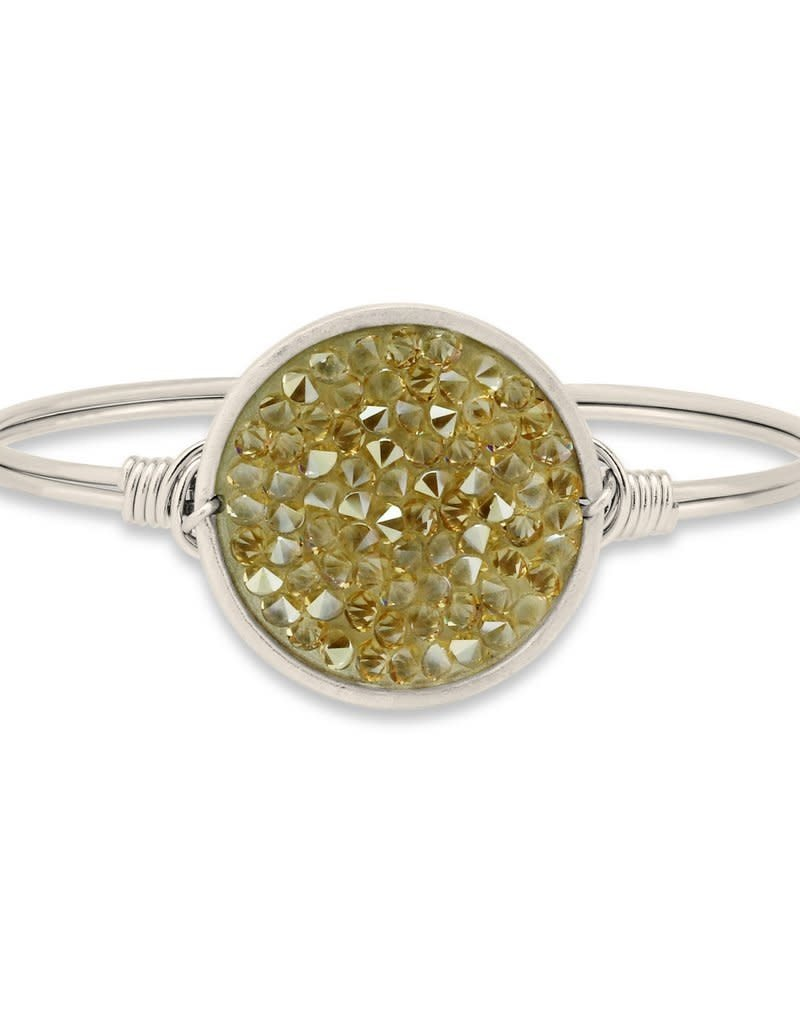 LUCA AND DANNI STC339S METALLIC CHAMPAGNE SWAROVSKI DRUZY ON SILVER WIRE WRAPPED BRACELET