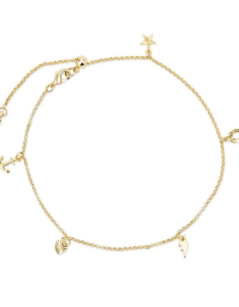 LUCA AND DANNI ANK100G CHARM ANKLET GOLD