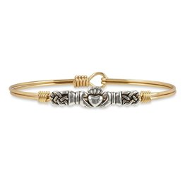 LUCA AND DANNI STC659S/SM CLADDAGH BANGLE BRACELET_PETITE_SILVER TONE