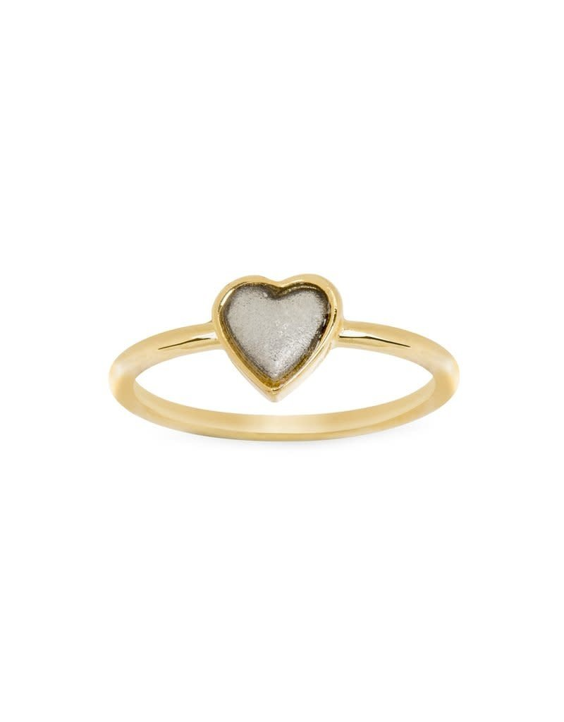 LUCA AND DANNI RG102S8 TWO TONE HEART RING SILVER SIZE8