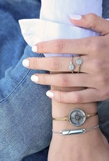 LUCA AND DANNI RG109S7 COMPASS RING SILVER  SIZE 7