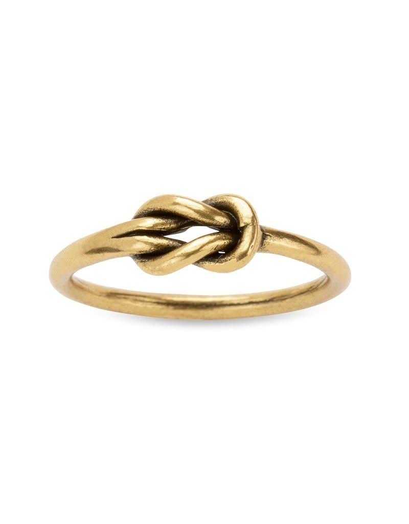 LUCA AND DANNI RG117G8 LOVERS KNOT RING GOLD SIZE 8