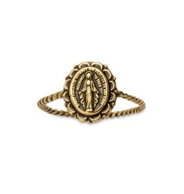 LUCA AND DANNI RG131G8 MIRACULOUS MEDAL RING IN GOLD SIZE 8