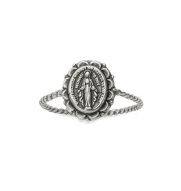 LUCA AND DANNI RG131S8 MIRACULOUS MEDAL RING IN SILVER SIZE 8