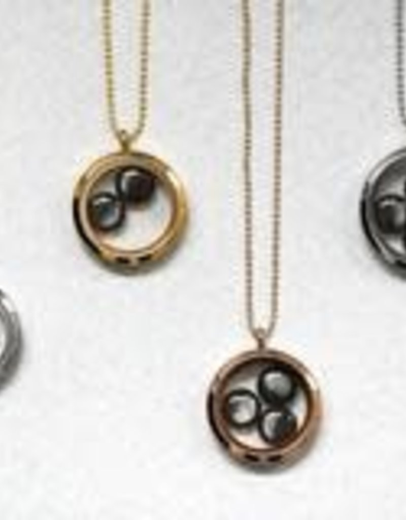 MOONGLOW JEWELRY Rose Gold Locket with Bead Chain