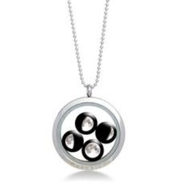 MOONGLOW JEWELRY Large Stainless Steel Locket with Bead Chain