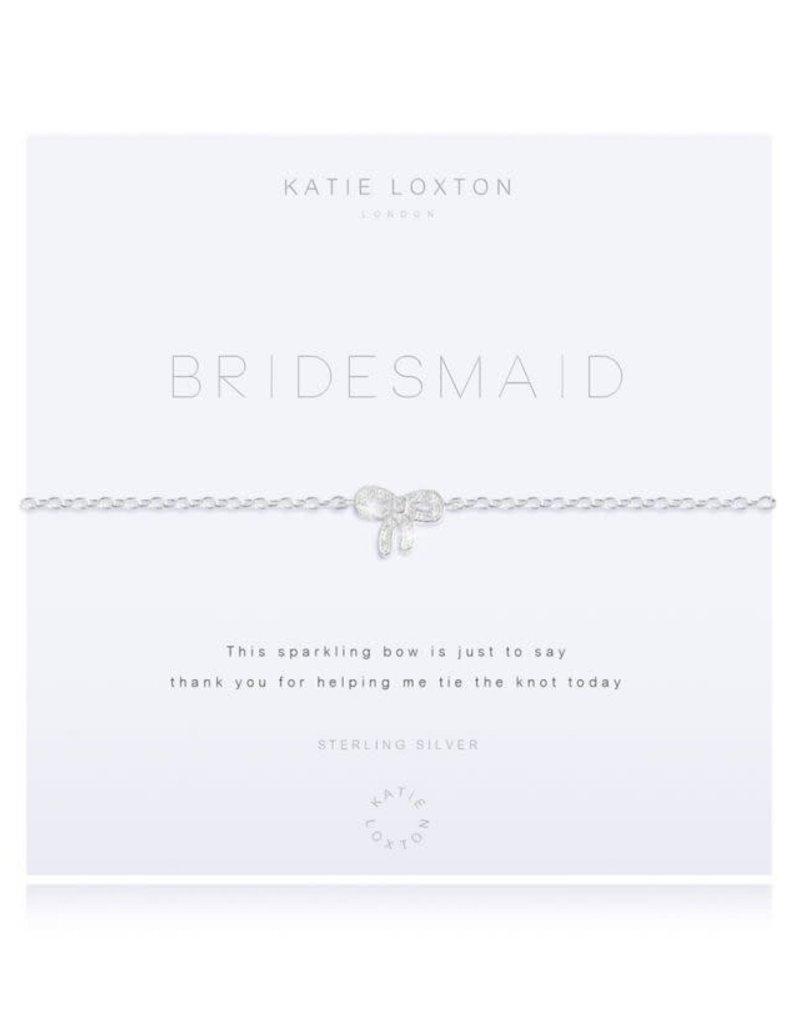 KATIE LOXTON KLJ2601 ''SENTIMENT MESSAGE - LOVE - SILVER CHAIN WITH ''''LOVE'''' WORD AND ADJUSTING SLIDER - BRACELET''