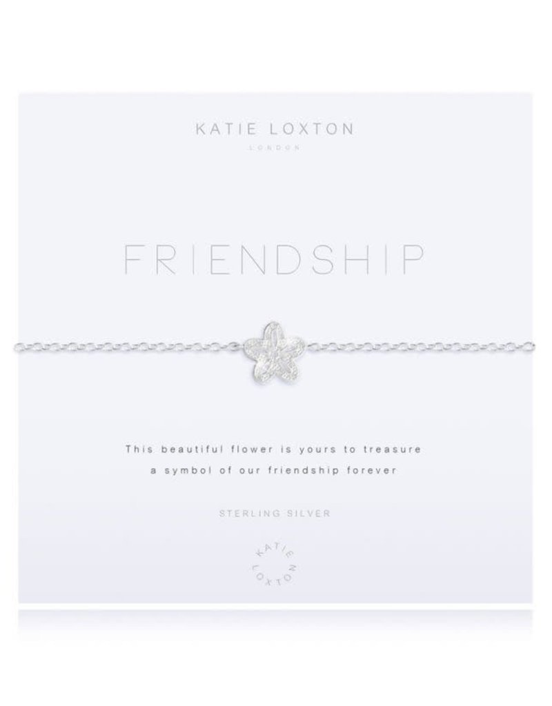 KATIE LOXTON KLJ2602 ''SENTIMENT MESSAGE - SHINE - SILVER CHAIN WITH ''''SHINE'''' WORD AND ADJUSTING SLIDER - BRACELET''