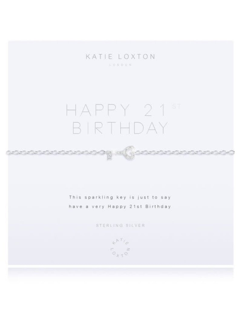 KATIE LOXTON KLJ2604 ''SENTIMENT MESSAGE - WISH - SILVER CHAIN WITH ''''WISH'''' WORD AND ADJUSTING SLIDER - BRACELET''