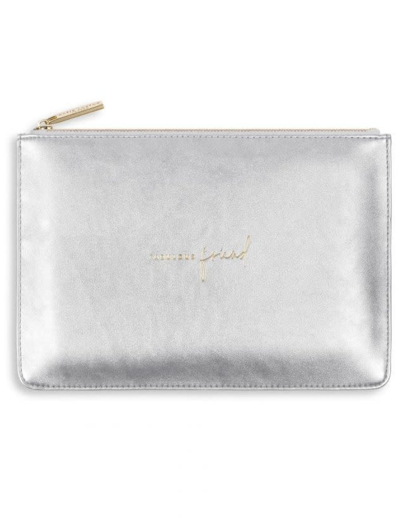 KATIE LOXTON KLB495 PERFECT POUCH - FABULOUS FRIEND - SILVER - 16X24CM