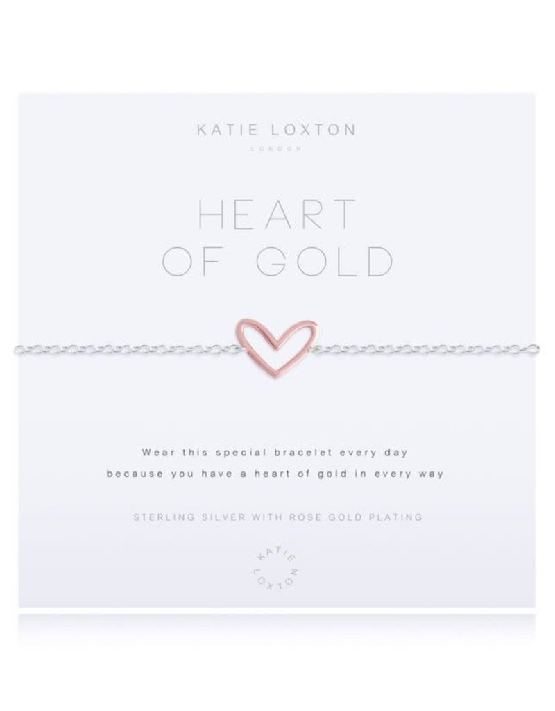 KATIE LOXTON *KLJ2771 DREAM ENGRAVED YELLOW GOLD BAR WITH BLUE SANDSTONE STONES - BRACELET