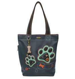 CHALA 852PP1 PAW PRINT - EVERYDAY ZIP TOTE II Navy
