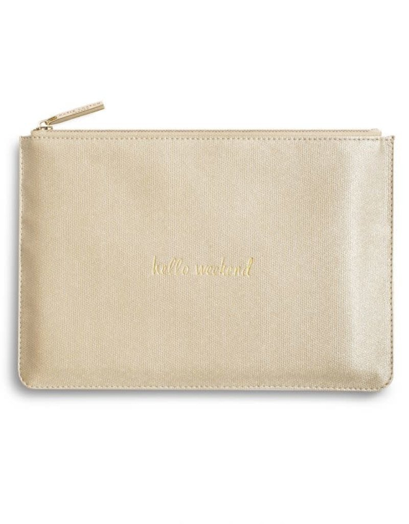 KATIE LOXTON KLB350 PERFECT POUCH - HELLO WEEKEND - GOLD SHIMMER - 16X24CM