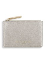 KATIE LOXTON KLB419 ALEXA METALLIC CARD HOLDER WITH SMALL ZIP FOR COINS - SHINY CHAMPAGNE