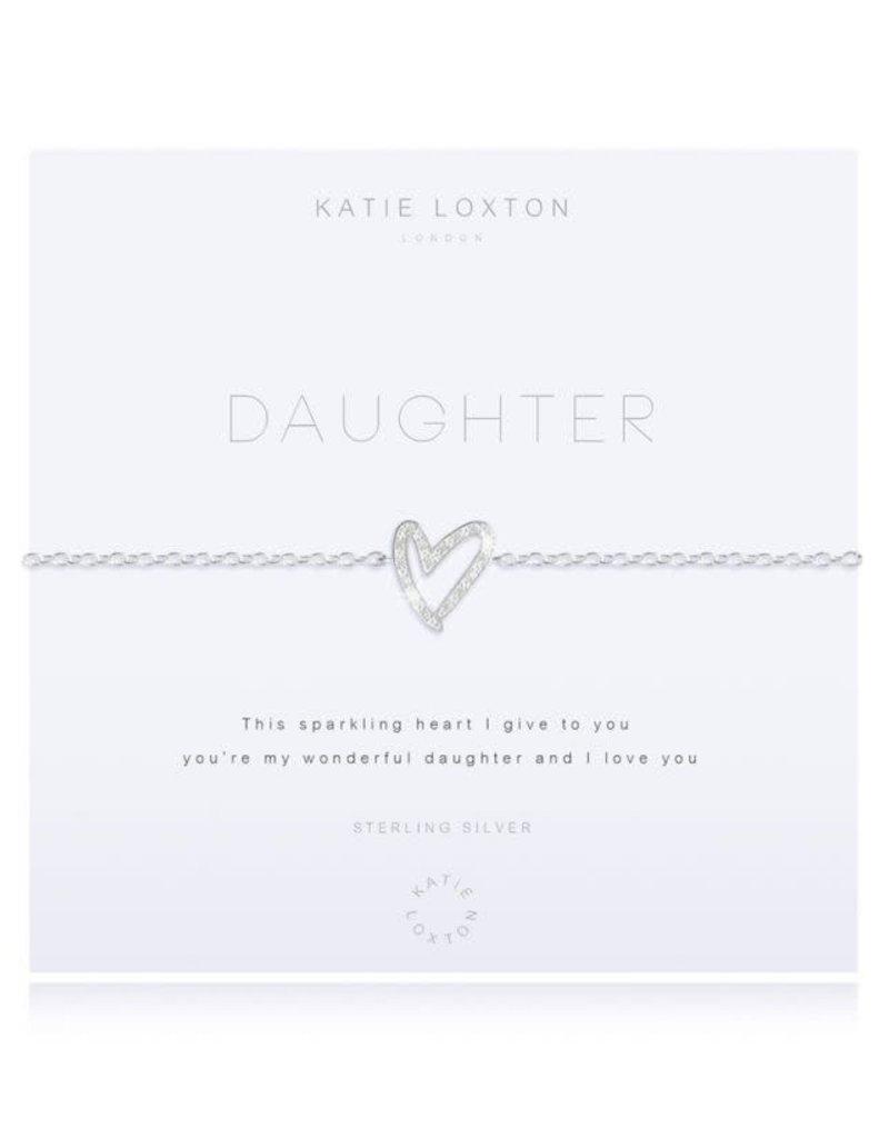 KATIE LOXTON KLJ2607 MINI MESSAGE - SHINE - SILVER CHAIN WITH STAR DETAIL AND ADJUSTING SLIDER - BRACELET