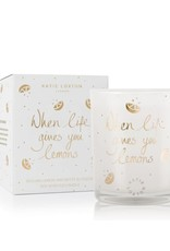 KATIE LOXTON KLC070 ICON CANDLE - WHEN LIFE GIVES YOU LEMONS - SICILIAN LEMON AND WHITE BLOSSOM - 160GR