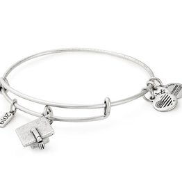 ALEX AND ANI A19EBGCRS 2019 Graduation Cap Charm Bangle Silver
