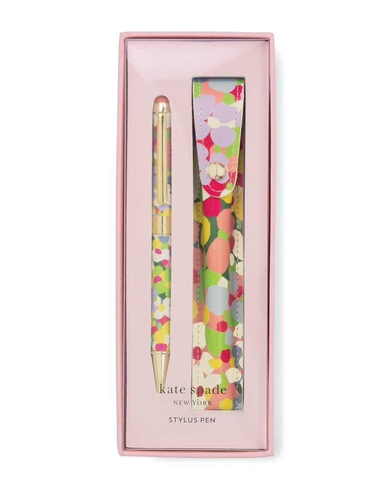 KATE SPADE 193840 Stylus Pen with Pouch, Floral Dot