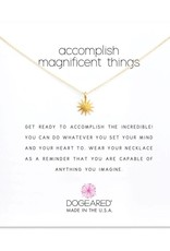 "Accomplish magnificent things, starburst necklace, 16"" w/2"" extender"