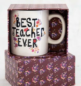 NATURAL LIFE MUG341 Best Teacher Ever Boxed Mug