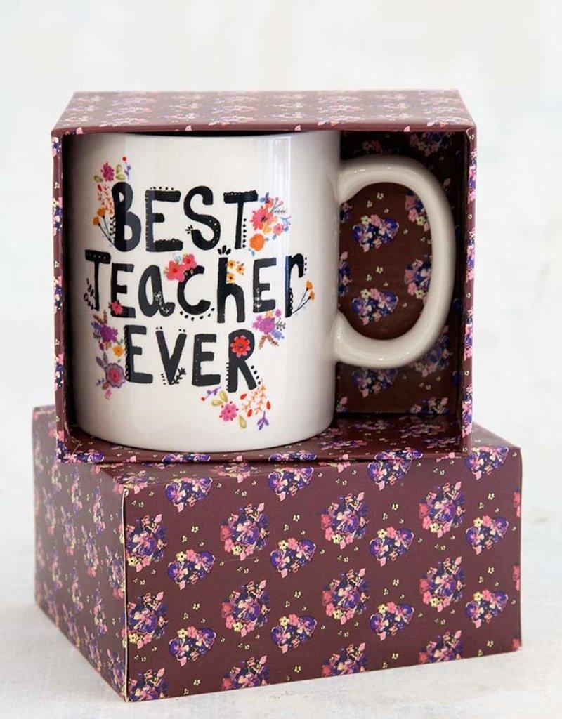 NATURAL LIFE MUG341 Best Teacher Ever Boxed Mug