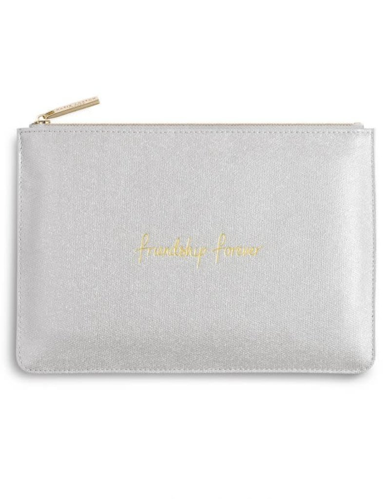 KATIE LOXTON PERFECT POUCH - FRIENDSHIP FOREVER - SHINY SILVER