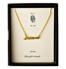 B U N98V dream Necklace Gold