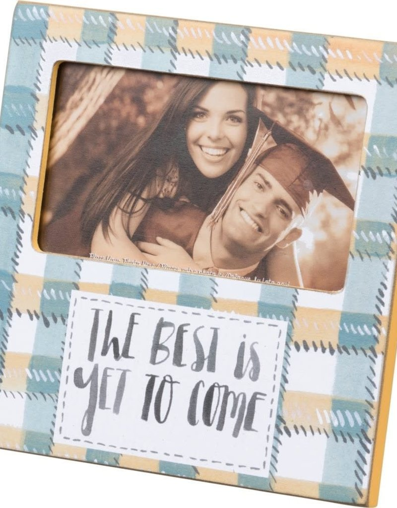 "100217 PLAQUE FRAME - THE BEST 6"" x 6"" x 0.25"", Fits 5"" x 3"" Photo"