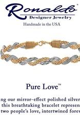 RONALDO B317GSE0650 PURE LOVE BRACELET 14K GOLD ARTIST WIRE WITH MIRROR SILVER