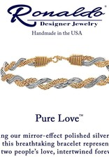 RONALDO PURE LOVE BRACELET 14K GOLD ARTIST WIRE WITH MIRROR SILVER