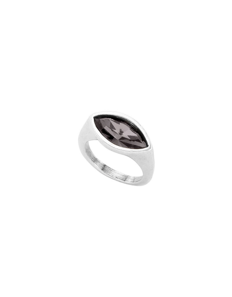UNO DE 50 ANI0594NGRMTL15 Ring in metal clad with silver with SWAROVSKI® ELEMENTS