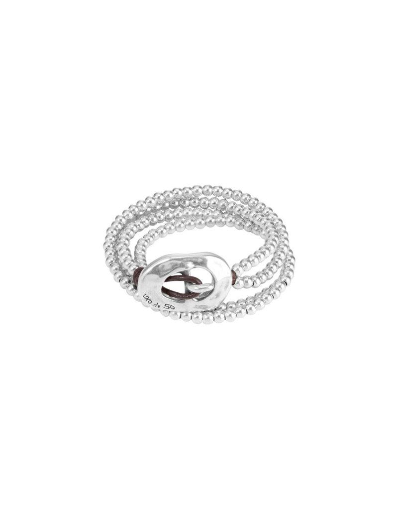 UNO DE 50 PUL1324MTL0000M Metal bracelet clad with silver
