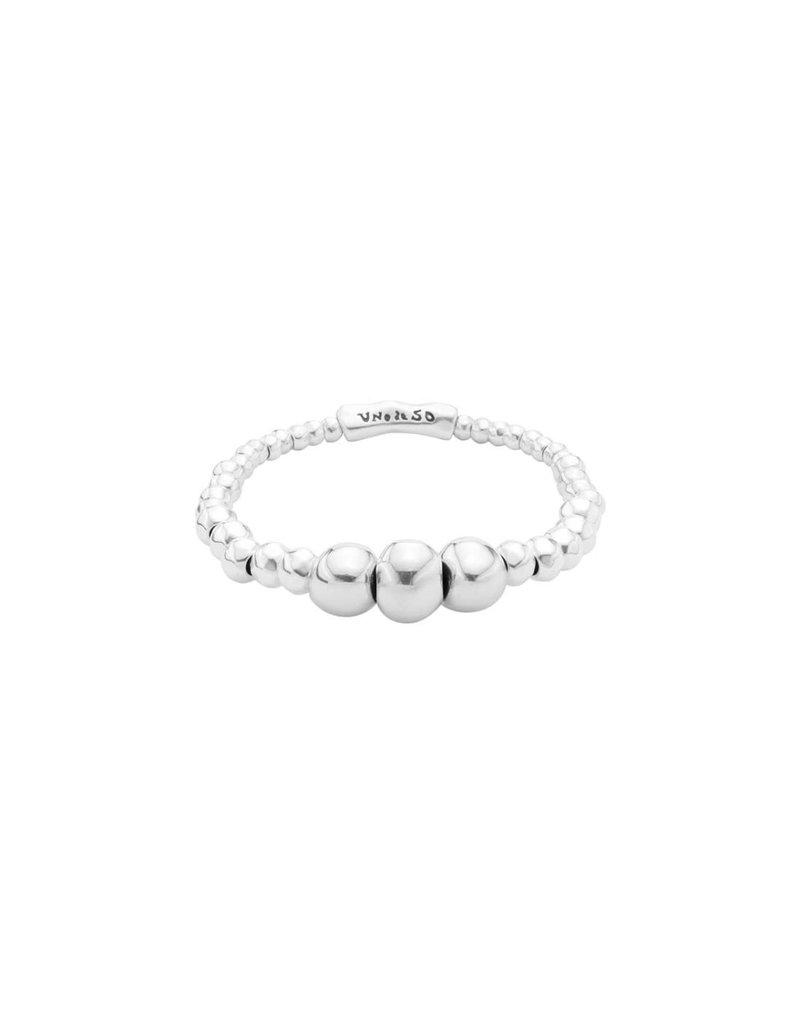UNO DE 50 PUL1858MTL0000M Elastic bracelet in metal clad with silver.