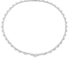 CRISLU 9011141N18CZ SSP 16.55 CTTW Multi Cluster Tennis Necklace