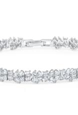 CRISLU 9011141B70CZ SSP 11.60 CTTW Multi Cluster Bracelet