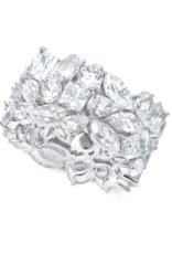 CRISLU 9011143R80CZ SSP 13.50 CTTW Multi Cluster Eternity Ring