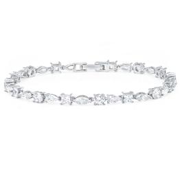 CRISLU 9011143B70CZ SSP 7.60 CTTW Multi Shape Tennis Bracelet