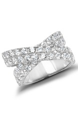 CRISLU 9011352R80CZ SSP 4.70 CTTW Stardust Ring finished in Pure Platinum